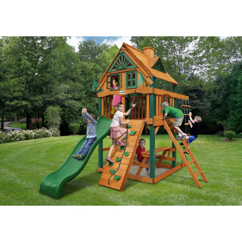 Gorilla Chateau Tower Treehouse w/ Fort Add-On & Timber Shield™ - Amber (01-0063-TS)