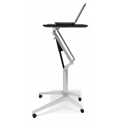 Jesper Office 201 Workpad Stand Up Height Adjustable Desk - Black Top (201-BLK)