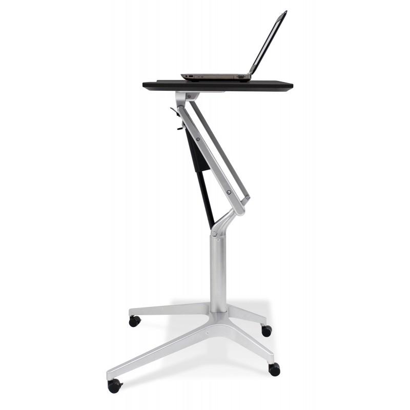 Jesper Office 201 Workpad Stand Up Height Adjustable Desk - Black Top (201-BLK)