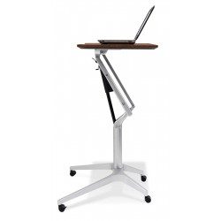 Jesper Office 201 Workpad Stand Up Height Adjustable Desk with Cherry Top (201-CH)