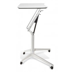Jesper Office 201 Workpad Height Adjustable Laptop Desk - White Top (201-WH)