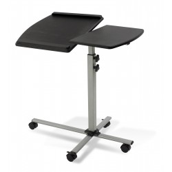 Jesper Office 202 Height Adjustable Mobile Laptop Desk Black Top (202-BLK)