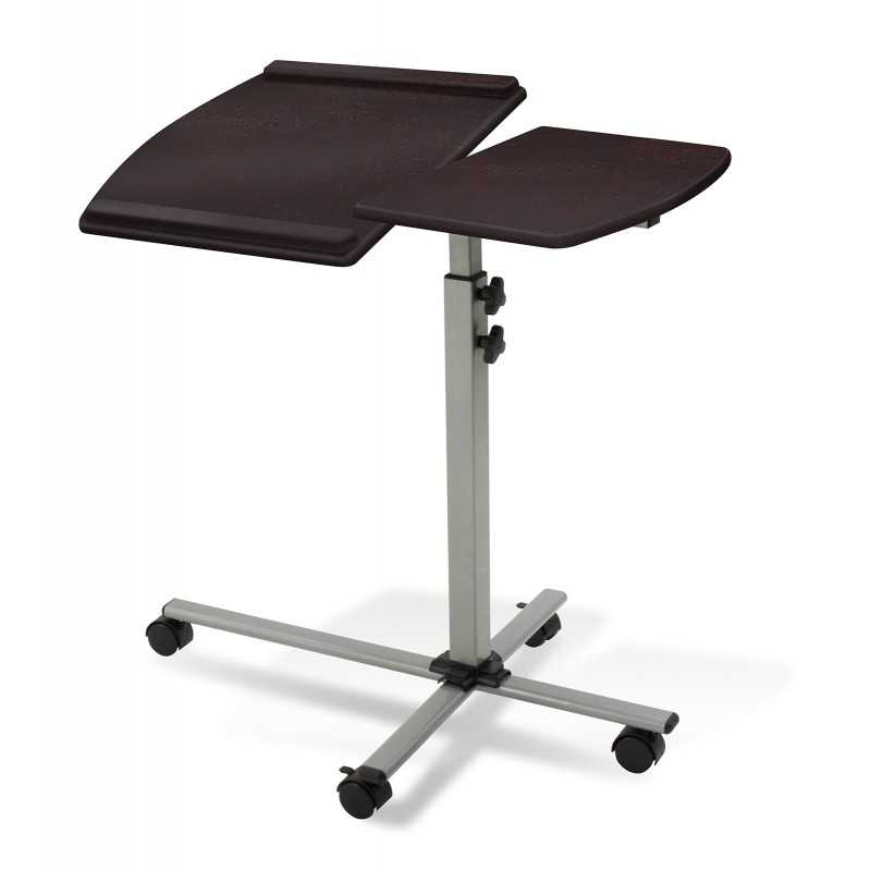 Jesper Office 202 Height Adjustable Mobile Laptop Desk   Espresso Top (202-ESP)