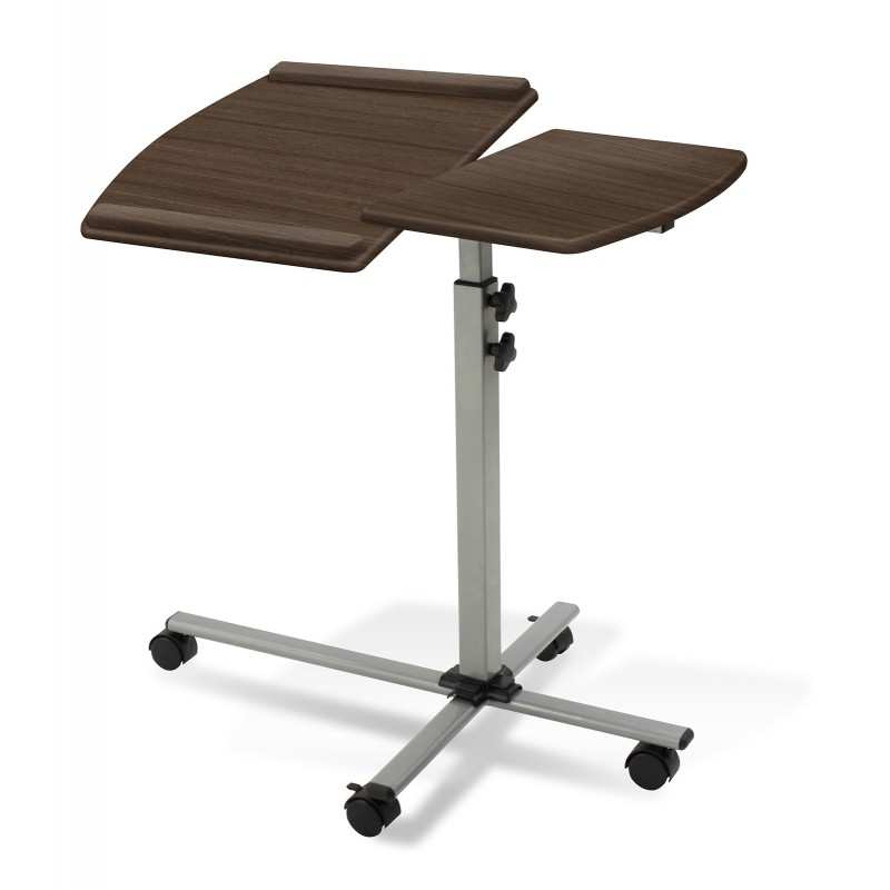 Jesper Office 202 Height Adjustable Mobile Laptop Desk Walnut Top (202-WAL)