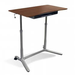 Jesper Office 204 Height Adjustable Sit Stand Desk Cherry (204-CH)
