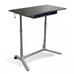 Jesper Office 204 Height Adjustable Sit Stand Desk Espresso (204-ESP)