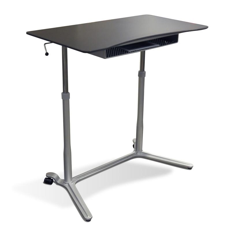 Jesper Office 204 Height Adjustable Sit Stand Desk Espresso (204-ESP)