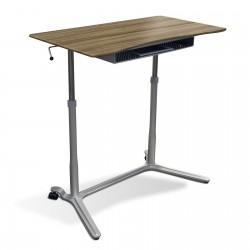 Jesper Office 204 Height Adjustable Sit Stand Desk Walnut (204-WAL)