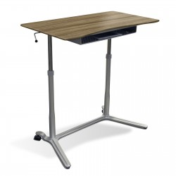 Jesper Office 204 Height Adjustable Sit Stand Desk Walnut (204-WAL)