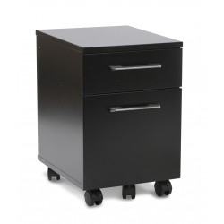 Unique Furniture Mobile Pedestal 2 Drawer File Cabinet - Black (231-BLK)