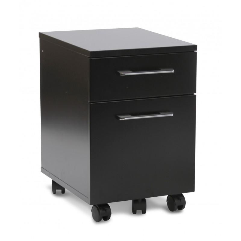 Jesper Office Mobile Pedestal 2 Drawer File Cabinet - Black (231-BLK)