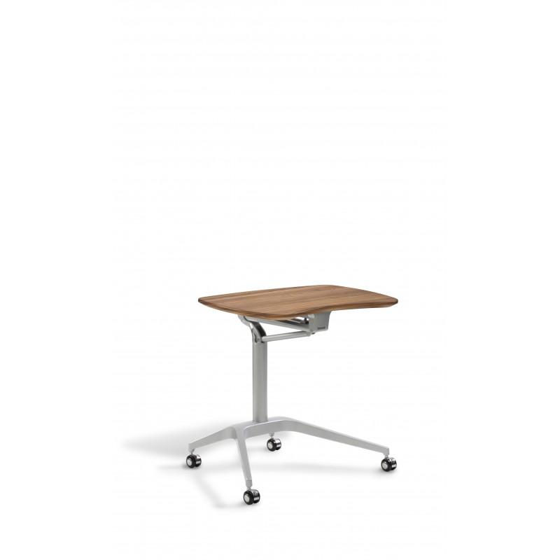 Jesper Office Laptop Cart Height Adjustable Desk - Cherry Top (208-CH)
