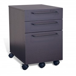 Jesper Office 3 Drawer Mobile File Cabinet - Espresso (211-ESP)