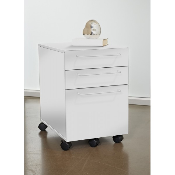 jesper office 3 drawer mobile file cabinet white 211 wh