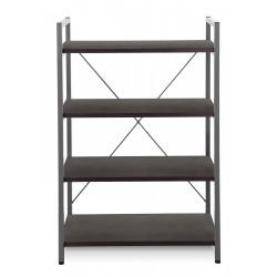 Jesper Office Metal Frame Bookcase - Espresso (213-ESP)