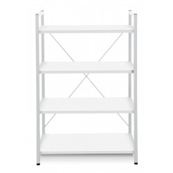 Jesper Office Metal Frame Bookcase - White (213-WH)