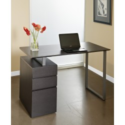 Unique Furniture Writing Desk with Drawers - Espresso (220-ESP)