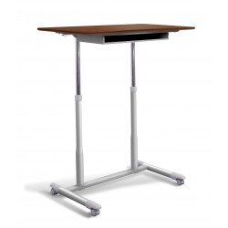 Jesper Office 205 Stand Up Desk Height Adjustable & Mobile Cherry Top (205-CH)