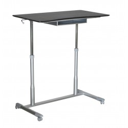 Jesper Office 205 Stand Up Desk Height Adjustable & Mobile Espresso Top (205-ESP)
