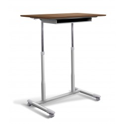 Jesper Office 205 Stand Up Desk Height Adjustable & Mobile Walnut Top (205-WAL)