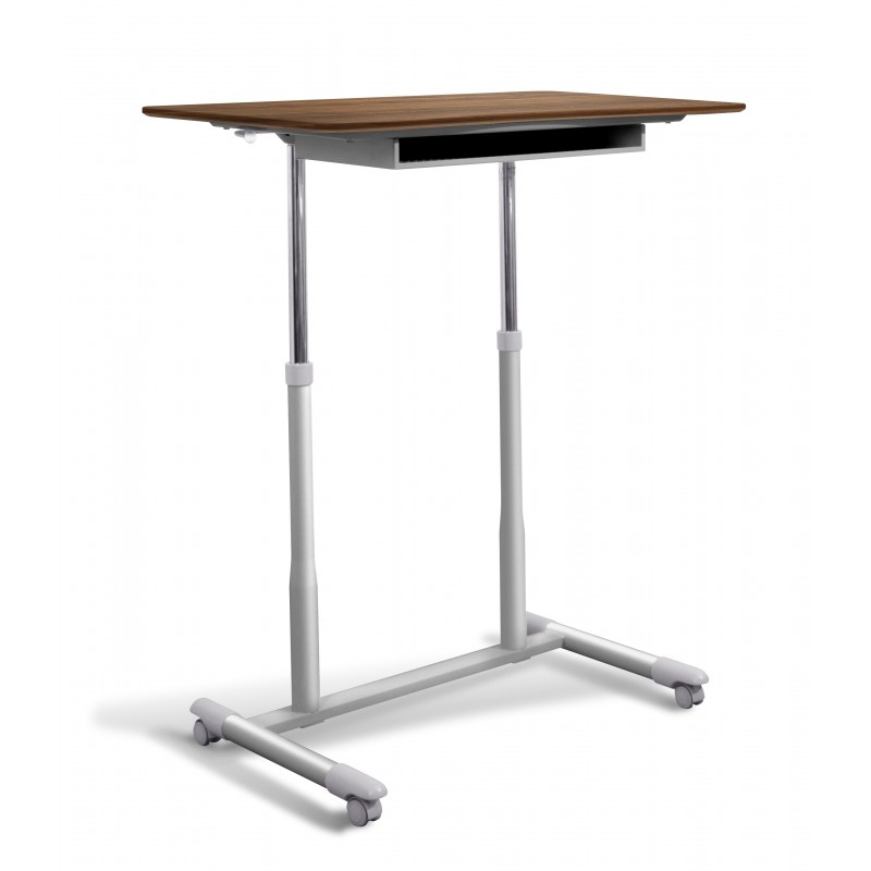 Jesper Office 205 Stand Up Desk Height Adjustable & Mobile Walnut Top (205-WAL)