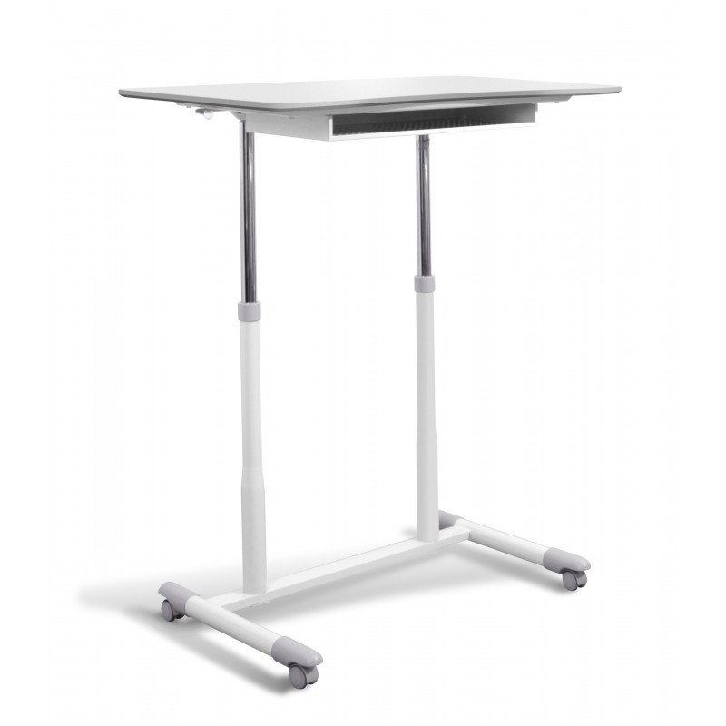 Jesper Office 205 Stand Up Desk Height Adjustable & Mobile White Top (205-WH)