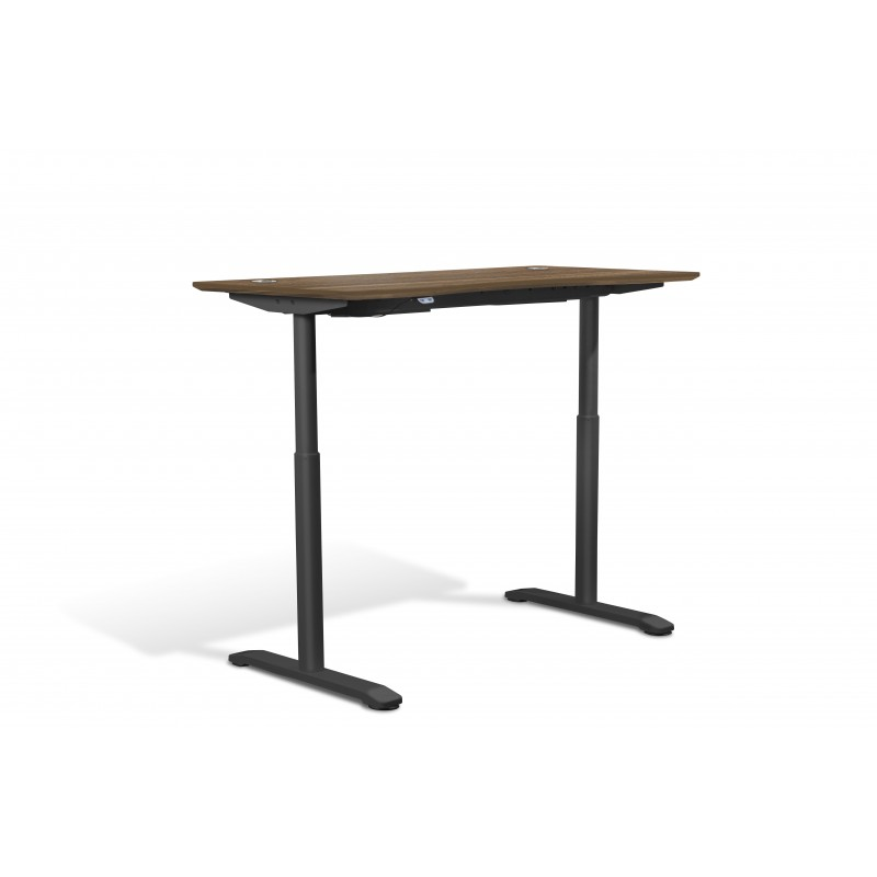 """Jesper Office Collection Electric Height Adjustable Sit Stand Desk 55"""" Walnut (75527-WAL)"""