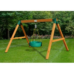 Gorilla Tire Swing Station Cedar Wood Swing Set Kit- Amber Stained Pine (01-0016-AMBER)