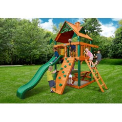 Chateau Tower Cedar Wood Swing Set Kit w/ Timber Shield™ and Standard Wood Roof - Amber (01-0061-TS)