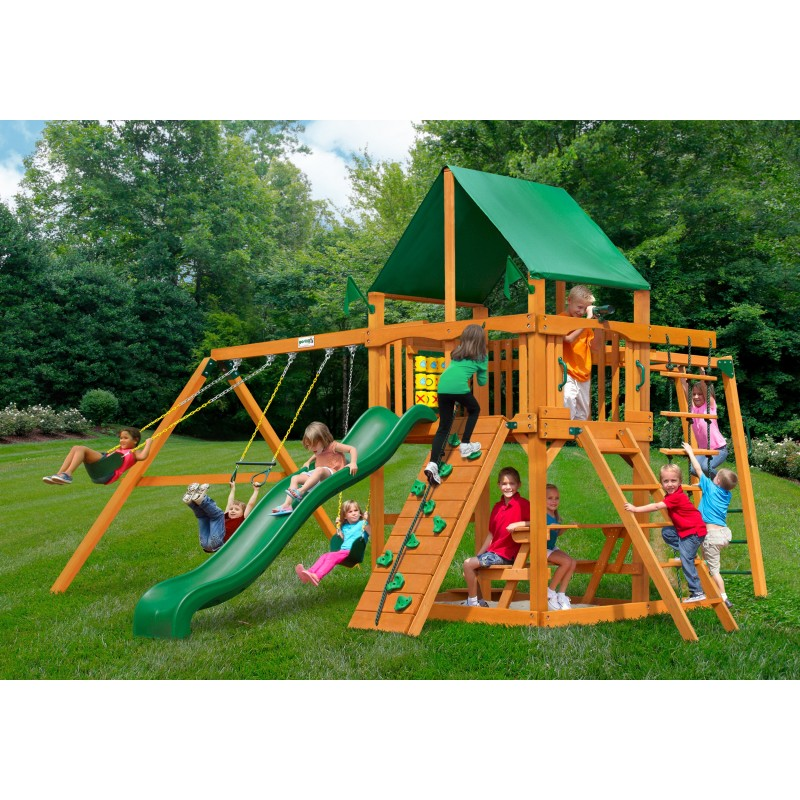 Gorilla Navigator Cedar Wood Swing Set Kit W Amber Posts