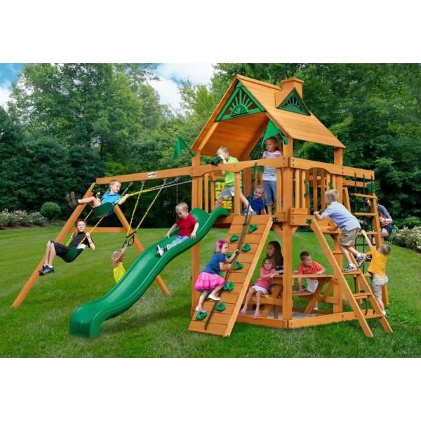 Gorilla Navigator Cedar Wood Swing Set Kit W Amber Posts And