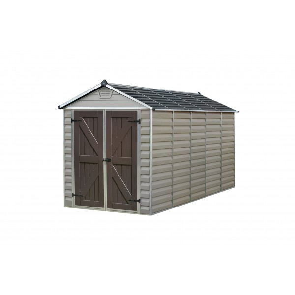 Palram 6x12 Skylight Storage Shed Kit Tan Hg9612t