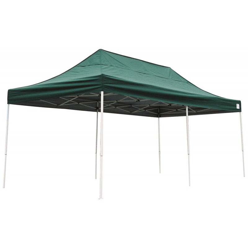 Shelter Logic 10x20 Straight Leg Pop-up Canopy - Green (22582)