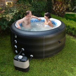 Blue Wave Pinnacle Inflatable Spa Hot Tub - Black (NP5767)