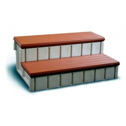 Blue Wave Redwood Side Spa Step w/ Storage - Redwood (NP5651)