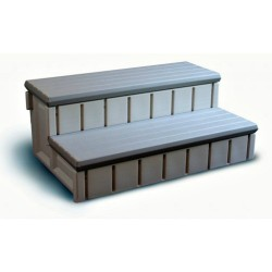 Blue Wave Gray Side Step Spa w/ Storage - Gray (NP5653)