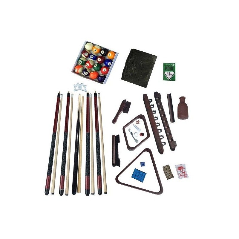 Blue Wave Deluxe Billiards Accessory Kit - Mahogany (NG2540M)