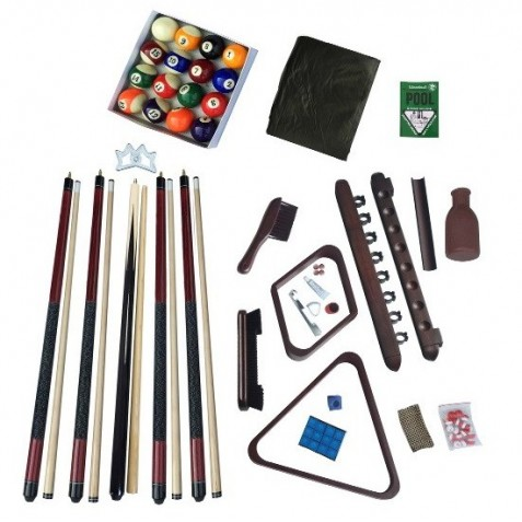 Blue Wave Deluxe Billiards Accessory Kit - Walnut (NG2540W)