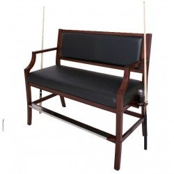 Blue WaHampton Club Spectator Bench - Walnut (NG2554W)