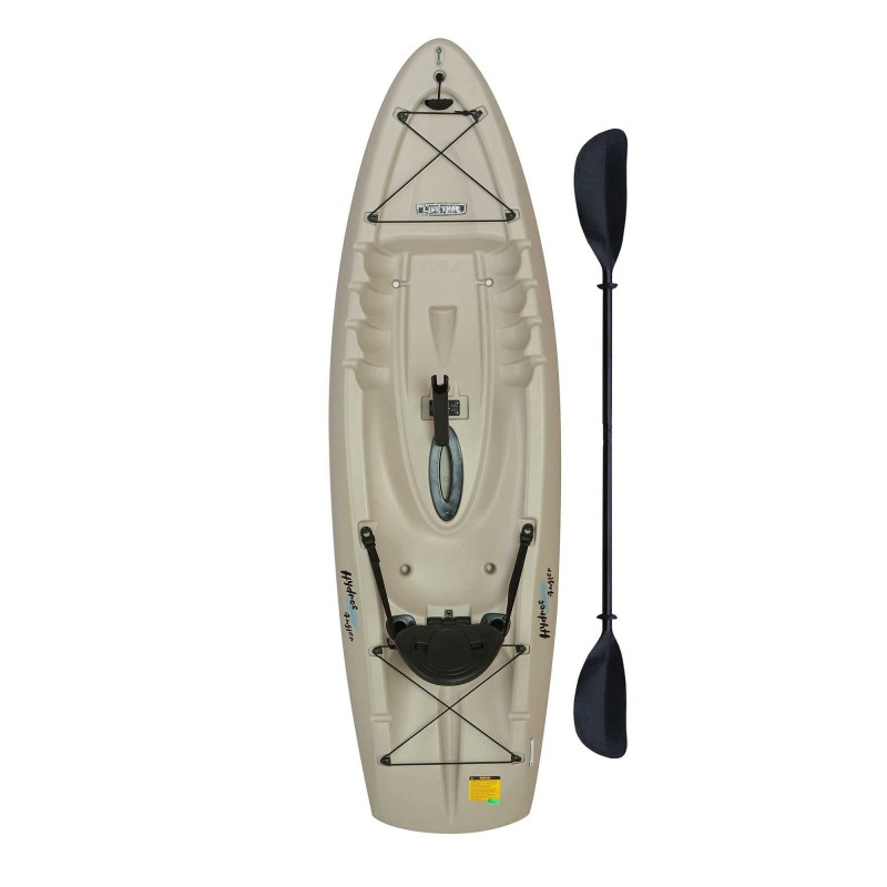 Lifetime 8.5 ft Hydros Angler Kayak w/ Paddle & Rod Holders - Sandstone (90610)
