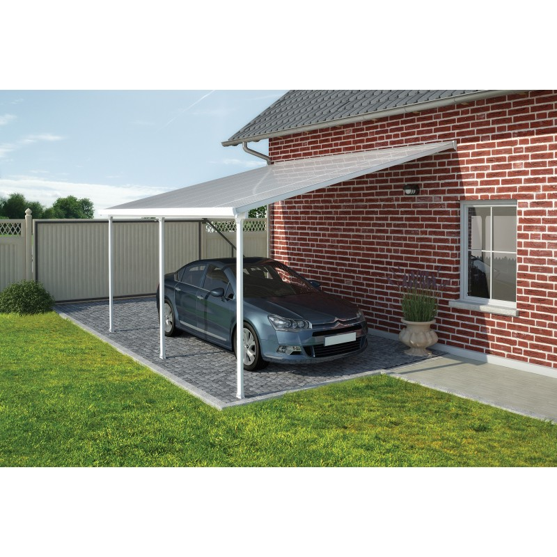 Palram 13x26 Feria Carport Kit - White (HG9141)