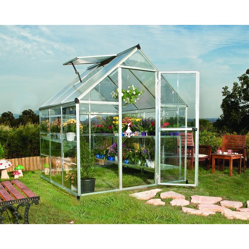 Palram Hybrid 6x6 Greenhouse Kit - Silver (HG5506)