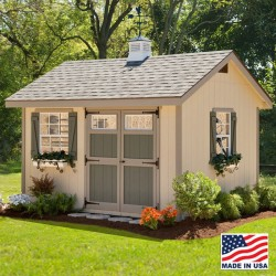 EZ-Fit Heritage 10' X 16' Wood Shed Kit (ez_heritage1016)