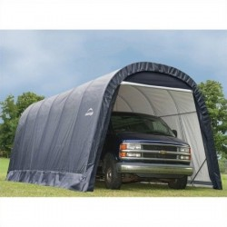 Shelter Logic 13x28x10 Round Style Shelter Kit - Grey (90233)