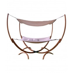 Leisure Season Square Hammock Stand With Hammock & Canopy (SHWC112)