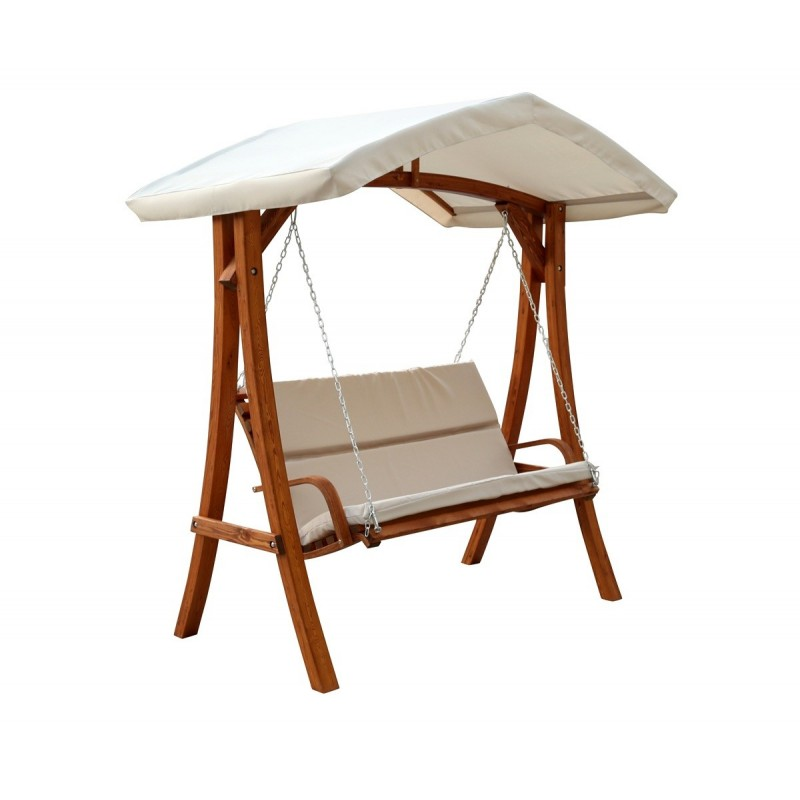 Leisure Season Wooden Swing Seater with Canopy (WSWC102)