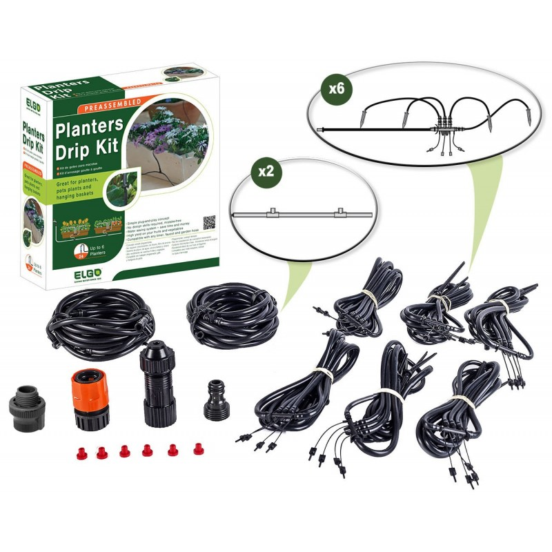 ELGO Planters Drip Kit - 24 Dripper Set (ELCDK24)