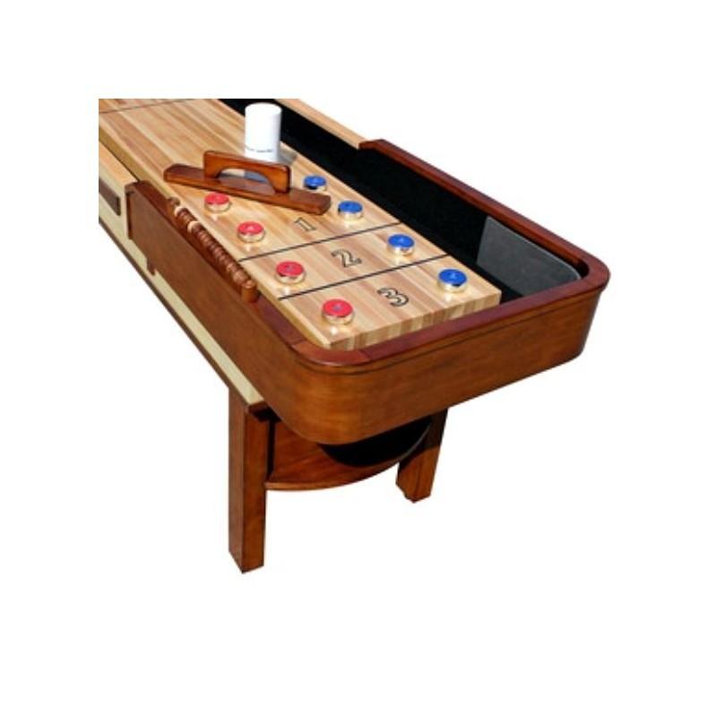 Carmelli Merlot 9ft. Shuffleboard Table - Natural Walnut (NG1305)