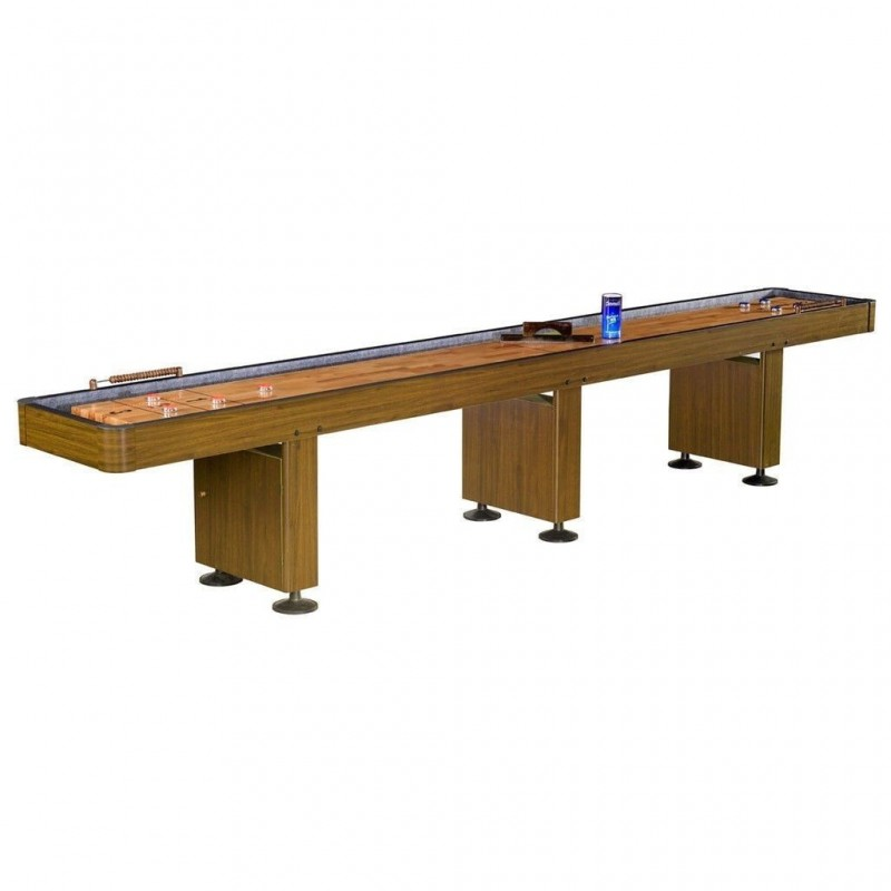 Carmelli Challenger 14ft. Shuffleboard Table - Walnut (NG1218)