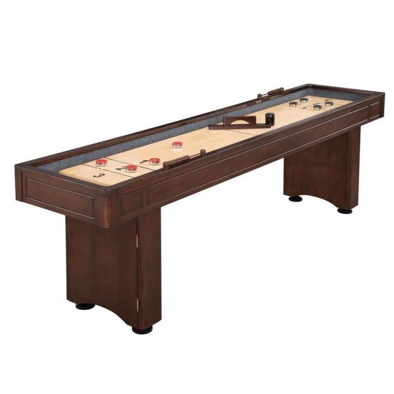 Blue Wave Austin 9ft Shuffleboard Table With Leg Storage - Mahogany (NG1209)